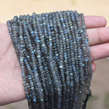 labradorite rondelle beads