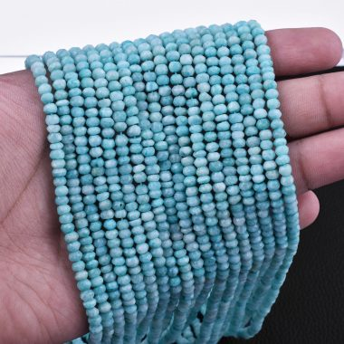amazonite faceted rondelle beads