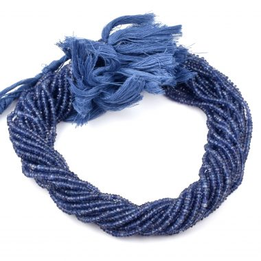 iolite faceted rondelle beads