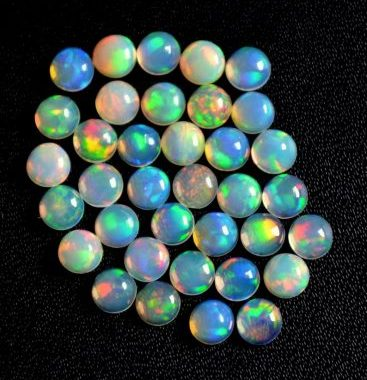 5mm opal smooth round