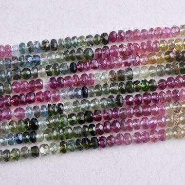 tourmaline rondelle gemstone beads