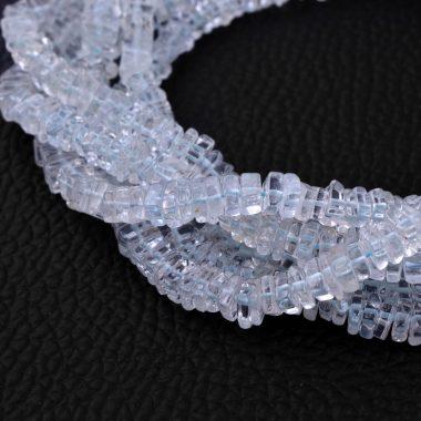 aquamarine smooth square beads
