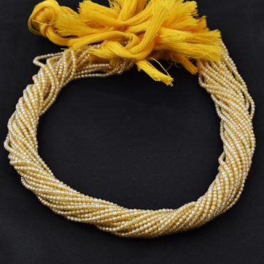 yellow zirconia faceted rondelle