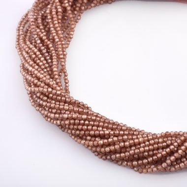 brown zirconia faceted beads