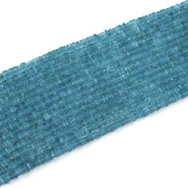 blue apatite square beads
