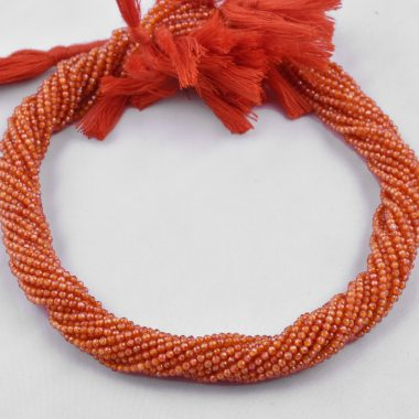 orange zirconia faceted rondelle