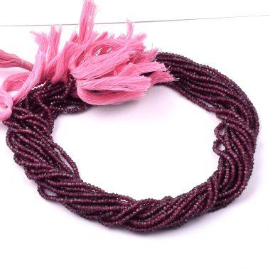 hyderabadi garnet rondelle beads
