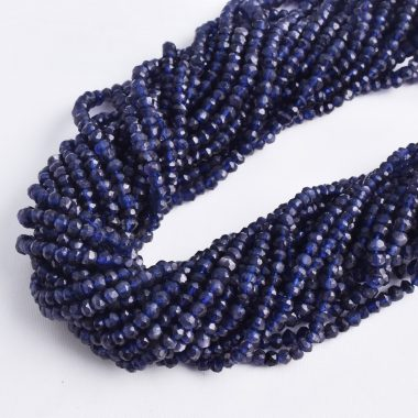 blue iolite faceted beads