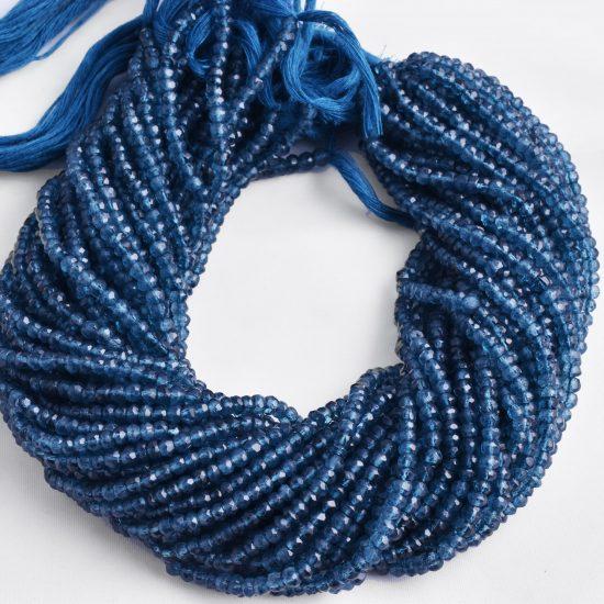 london blue rondelle beads`