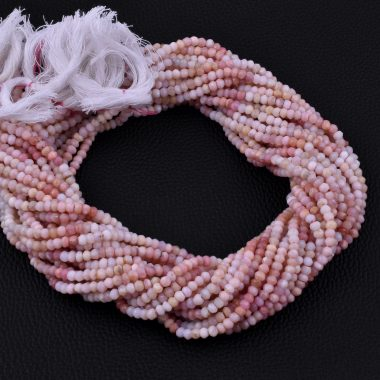 pink opal rondelle beads