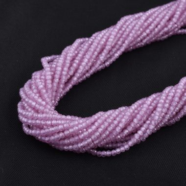 pink zirconia faceted rondelle