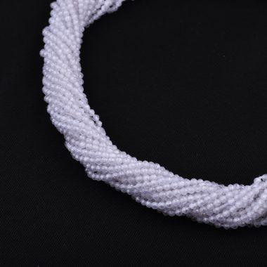 white cubic zirconia rondelle