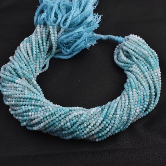 micro amazonite rondelle beads