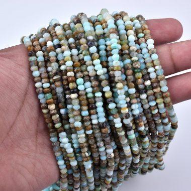 peruvian opal rondelle beads