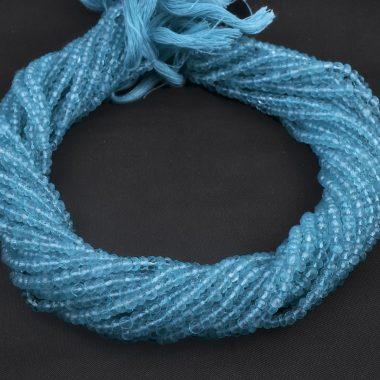 blue topaz rondelle beads