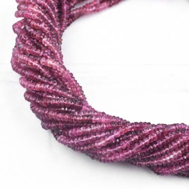 pink tourmaline rondelle beads