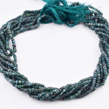 micro emerald smooth beads