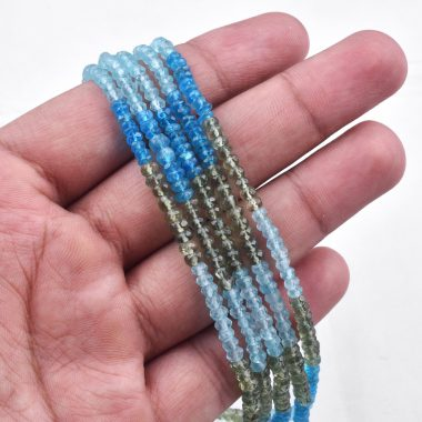 multi apatite rondelle beads