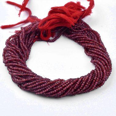 mozambique garnet rondelle beads