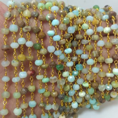 peruvian opal beaded rosary