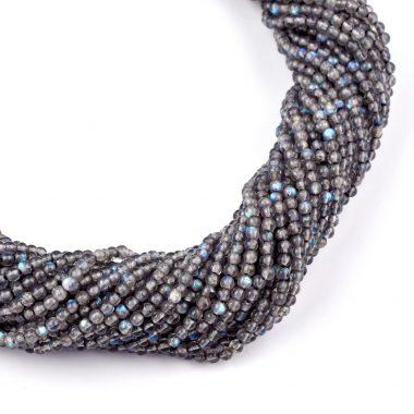 tiny labradorite smooth beads