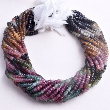 tourmaline faceted rondelle beads