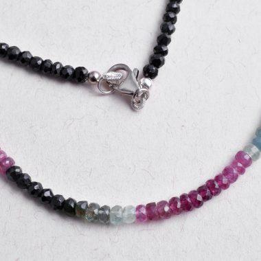 multi tourmaline clasp necklace