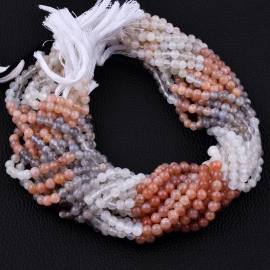 multi moonstone round beads