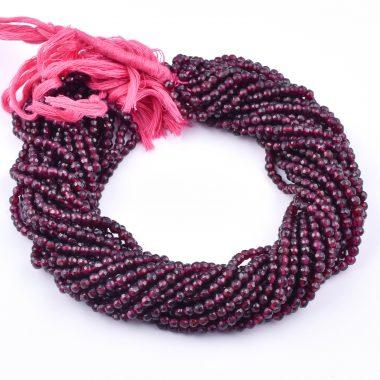 red garnet round beads
