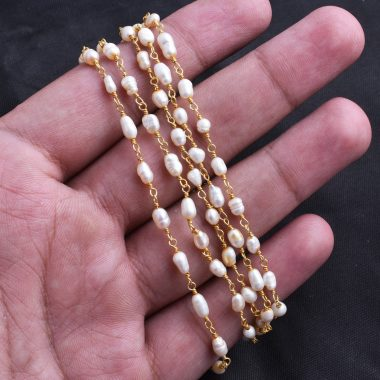 rise pearl rosary chain