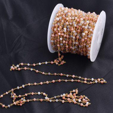 multi moonstone rosary chain
