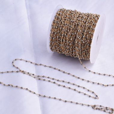 tiny pyrite rosary chain