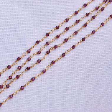 red garnet rosary chain