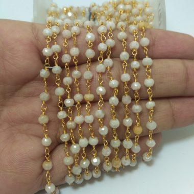 mystic moonstone rosary chain