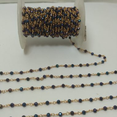 black spinel coated rosary