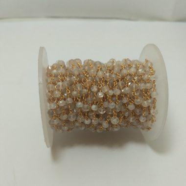 crystal quartz rosary chain