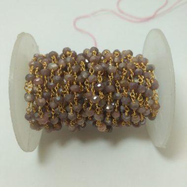 chocolate moonstone rosary chain