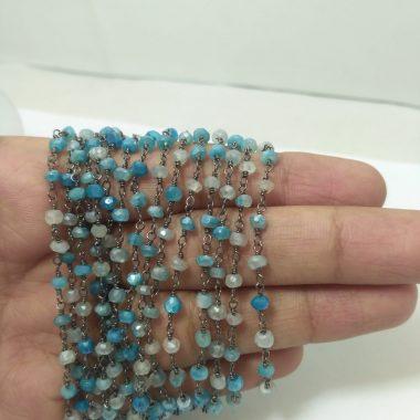 blue moonstone beaded rosary