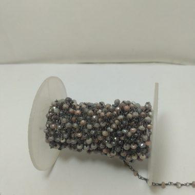 moonstone beaded rosary chain