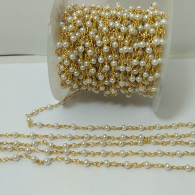 pearl round rosary chain