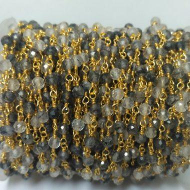 black rutile quartz rosary
