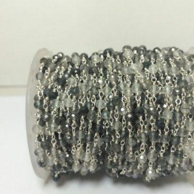black rutile rosary chain