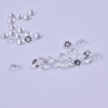 2mm crystal quartz round cut