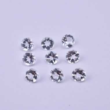 3mm crystal quartz round cut