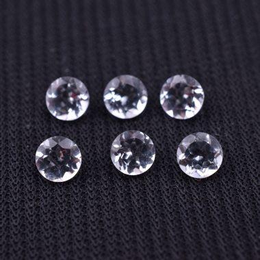 6mm crystal quartz round cut