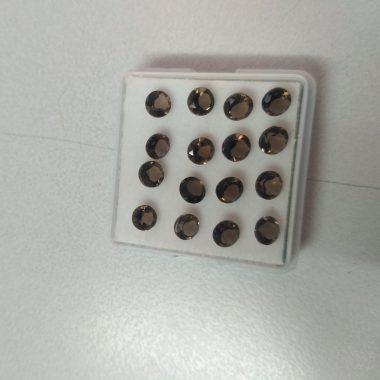 2mm smoky quartz round cut