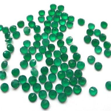 3mm green onyx round cut