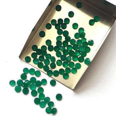 2mm green onyx round cut