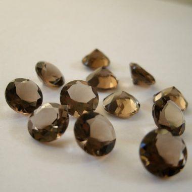 6mm smoky quartz round cut