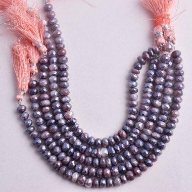 chocolate moonstone silverite beads